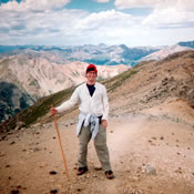 Andrew put down his horns and picked up his hiking staff in August of 2009 to climb Missouri Mountain which scrapes the Colorado sky at a stunning 14,067 feet!